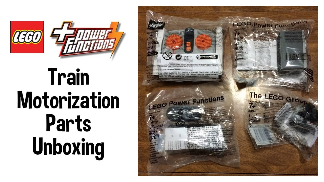 LEGO Power Functions Train Motorization Parts Unboxing ...