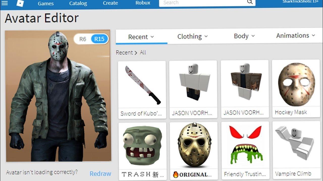 Making Jason Voorhees A Roblox Account - roblox granny masks