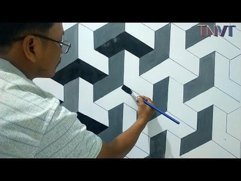 tranh vẽ tường đơn giản - MẪU SƠN TƯỜNG 3D |SỰ LỰA CHỌN TUYỆT VỜI CHO NGÔI NHÀ CỦA BẠN | TNVT-CHANNEL. 3D PAINTING FORM |