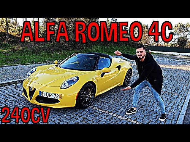 ALFA ROMEO 4C - SERÁ QUE VALE 70,000€ ???