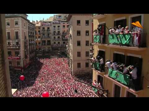 Sanfermines, the running of the bulls. Top Attractions in Pamplona, Navarra