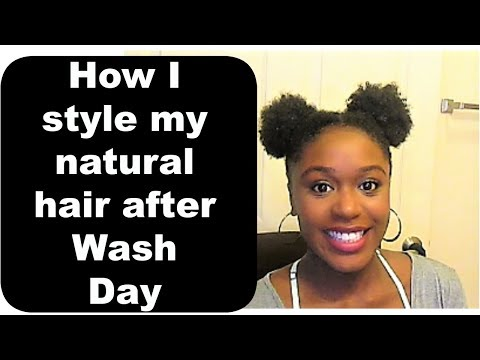 How To Style Natural Hair After Wash Day Youtube