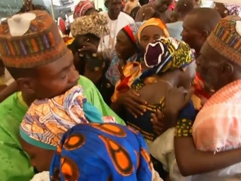 Raw: Chibok Girls and Parents Reunited in Abuja