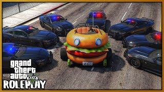 GTA 5 Roleplay - Funny Burger Car Police Chase | RedlineRP #765