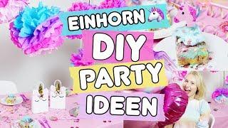 3 easy Pinterest DIY Party Ideen ◆ 🦄 Einhorn Kuchen, Geschenktüten & Deko Pompoms!