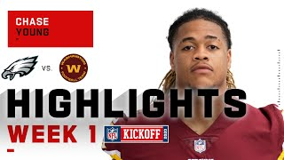 Chase Young Shows His Dominance w/ 1.5 Sacks & Forced Fumble | NFL 2020 Highlights
