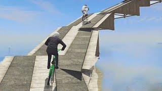 Extreme Spiral Bike Race! (GTA 5 Funny Moments)