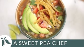 Slow Cooker Chicken Tortilla Soup | A Sweet Pea Chef