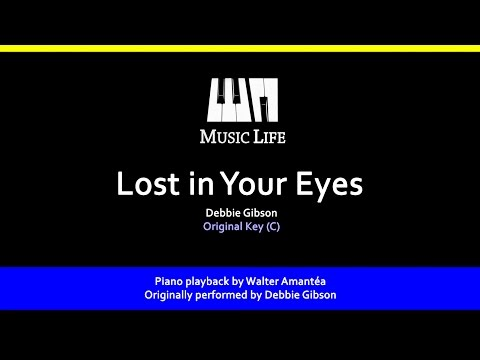 Lost in Your Eyes (Debbie Gibson) - Piano playback for Cover / Karaoke