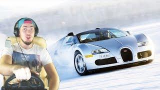 Bugatti Veyron ЗИМОЙ ПО МОСКВЕ - City Car Driving с РУЛЕМ