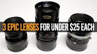 3 Epic Vintage Lenses for Under $25 Each