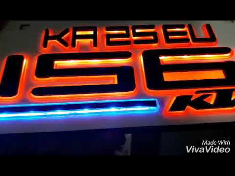 K T M Led 3d Number Plate Youtube