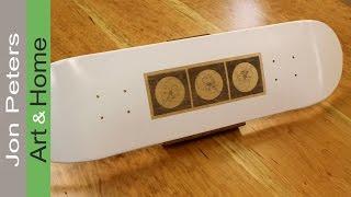How to custom paint a Skateboard - inkjet transfer image.