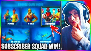 I Won A SQUAD Game With My Subscribers Without Talking To Them! - Fortnite Subscriber Win!