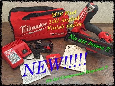 Milwaukee M18 Fuel Angled finish nailer