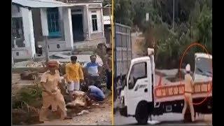 Cực nóng : Dừng xe Tội Phạm , tổ CSGT bị tông thẳng tại Gia Lai