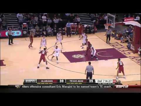 02/20/2014 Alabama vs Texas A&M Men's Basketball Highlights