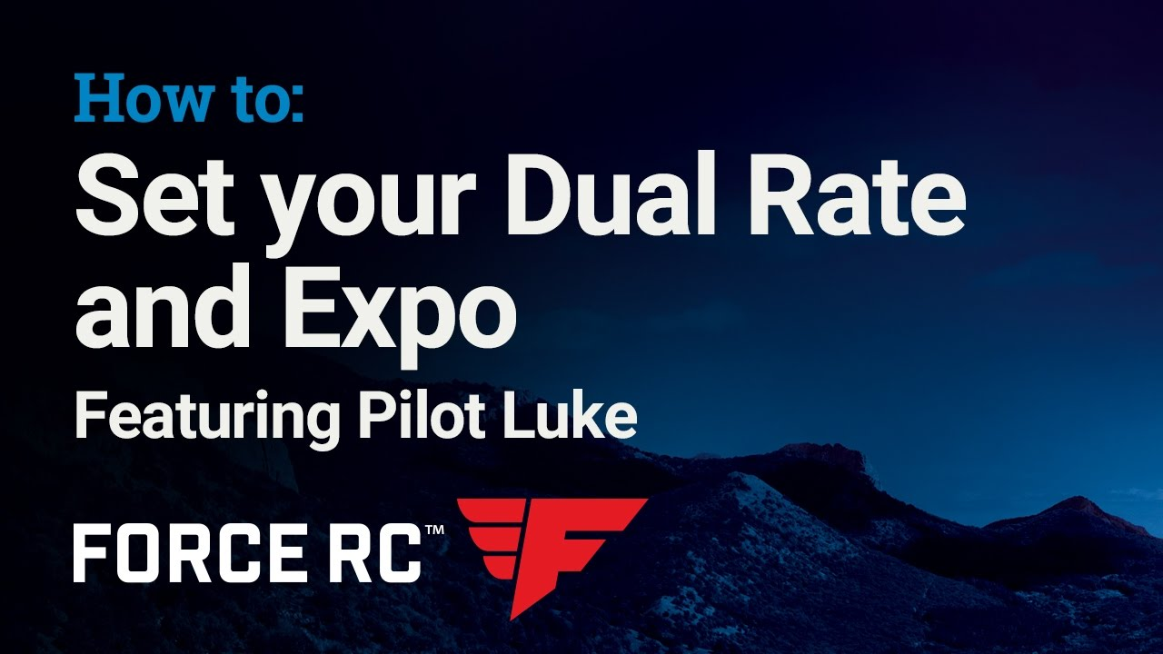 Force RC - How to: Dual Rate and Expo Setting for Air
