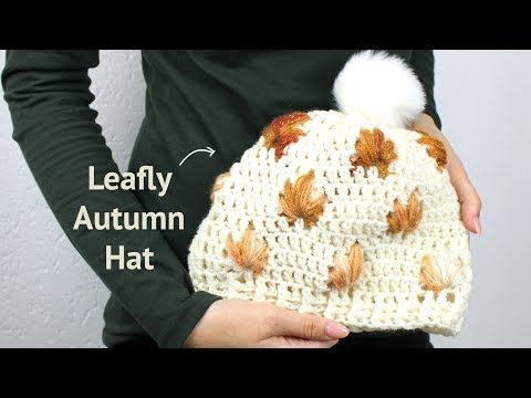 Leafly Autumn Hat – free crochet pattern