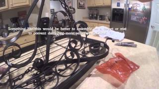 Hanging Pot Rack Over Kitchen Island Unbox Assembly Install Ceiling Mount Video