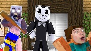 ЛИФТ В МАЙНКРАФТЕ С GRANNY БЕНДИ И СОНИК EXE Minecraft ELEVATOR НА GAMES FACTORY