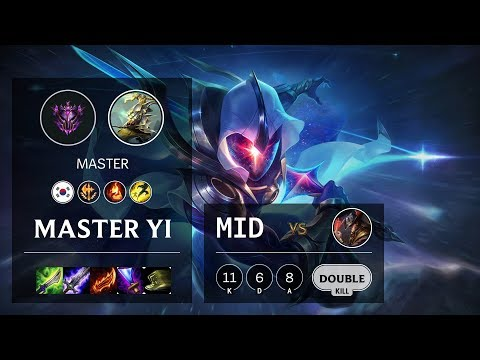 Master Yi Mid Vs Twisted Fate - KR Master Patch 10.9