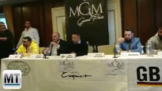 Tumult bei der Pressekonferenz zum Kampfsport-Event