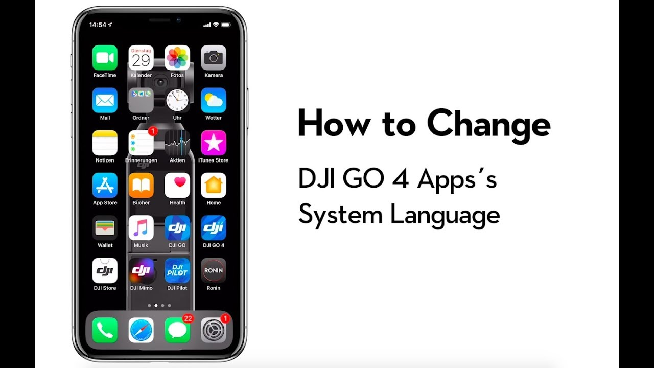 How to Change DJI GO 4 App's System Language