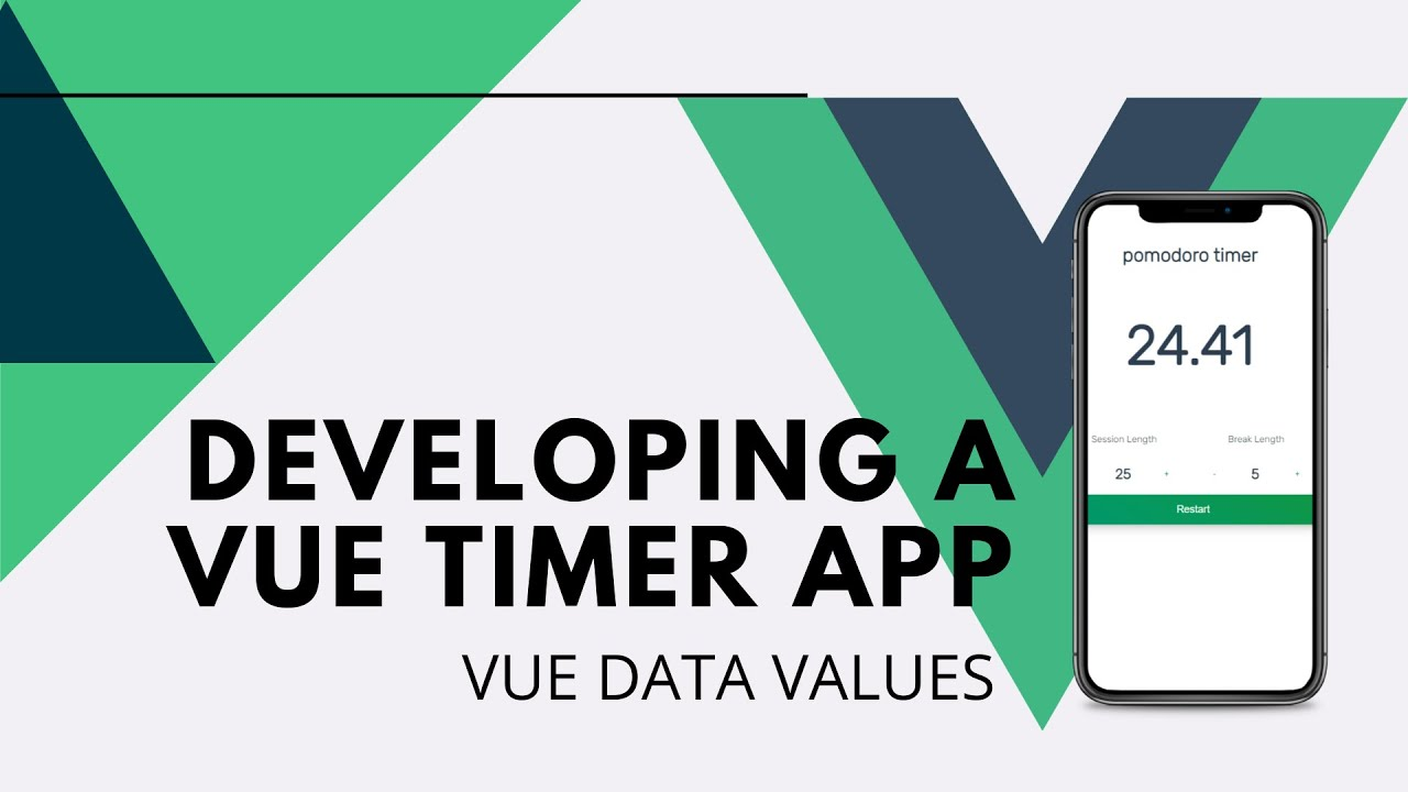 How to Make A VueJS Timer App: Vue Data Values
