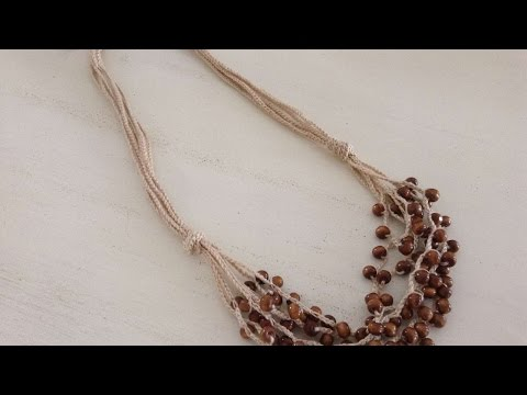 How To Make A Crochet Necklace With Wooden Beads - DIY Crafts Tutorial - Guidecentral