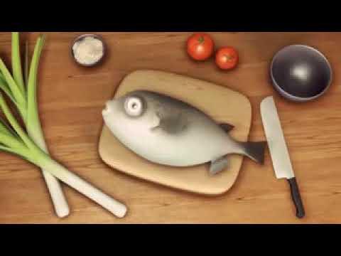 السمكة والطباخ كرتون قصير