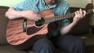 Fender CD-140SCE Mahogany acoustic/electric guitar.