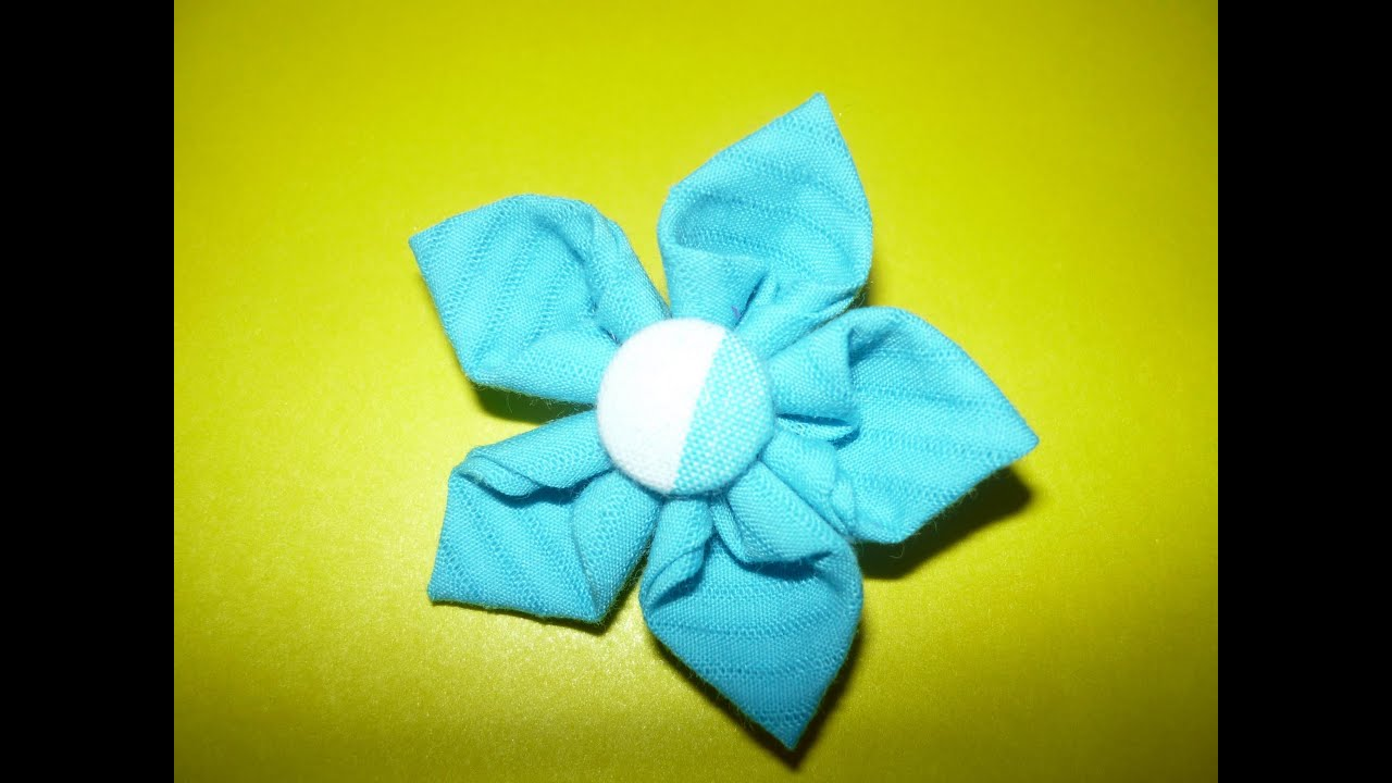 Como hacer flores de tela faciles how to make fabric - Como hacer manualidades faciles ...