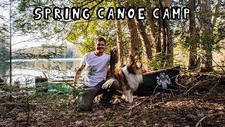 Spring Canoe Camping with My Dog