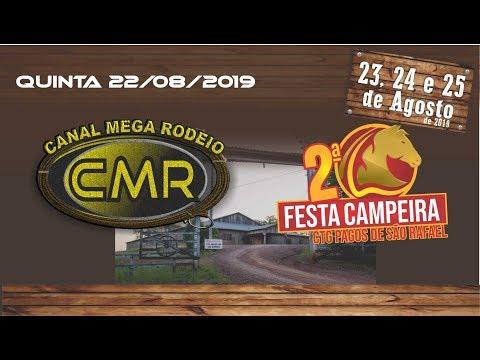 Programa Falando de Rodeio - CTG Pagos de São Rafael - Cruzeiro do Sul-RS/Quinta 22 de agosto 2019