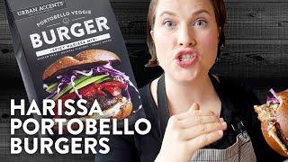Mediterranean Harissa Portobello Burgers   Cook School   Urban Accents