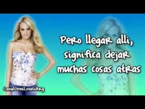 Starts with goodbye español- Carrie underwood