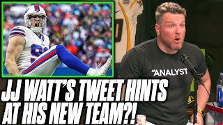 "Pat McAfee Reacts To JJ Watt's ""Cryptic"" Tweet"
