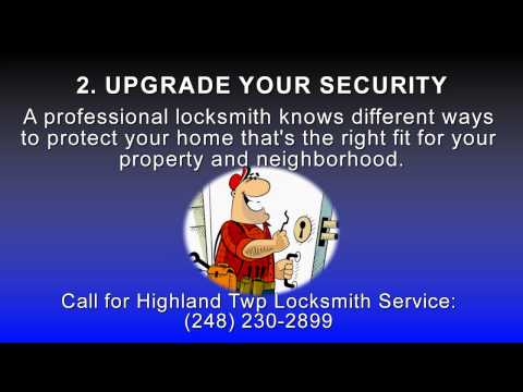 Quick Video: 4 Ways Highland Twp Locksmith Service Can Help You