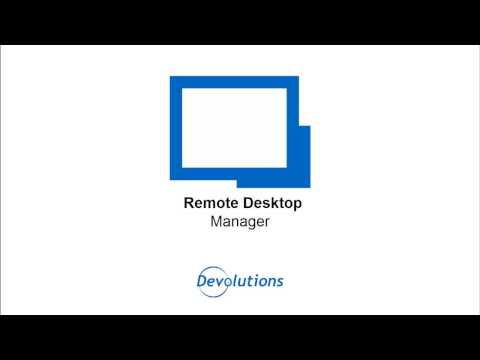 download remote desktop connection manager devolutions