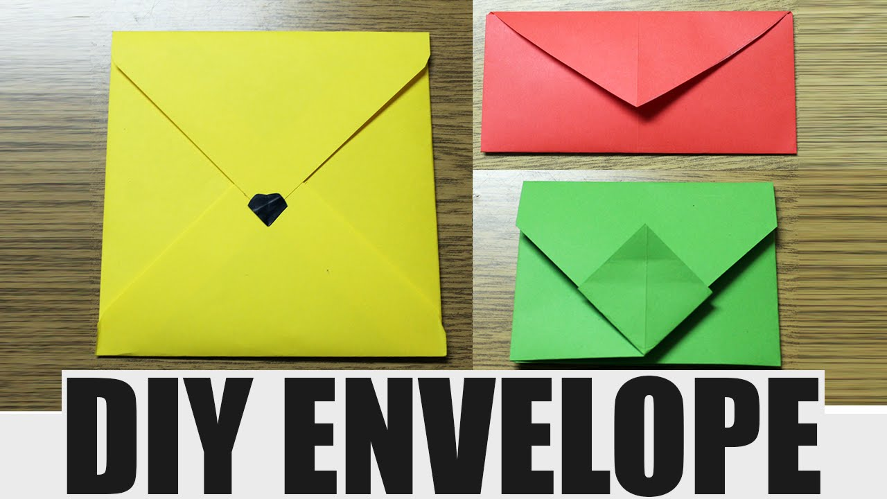 How to make an envelope - DIY paper envelope - YouTube