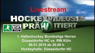 1. Hallenhockey-Bundesliga Herren DHC vs. RWK 09.01.2019 Livestream