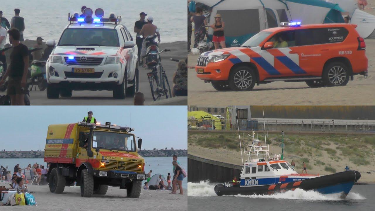 Zwemmer in problemen in zee Scheveningen zorgt voor grote inzet hulpdiensten! #1150