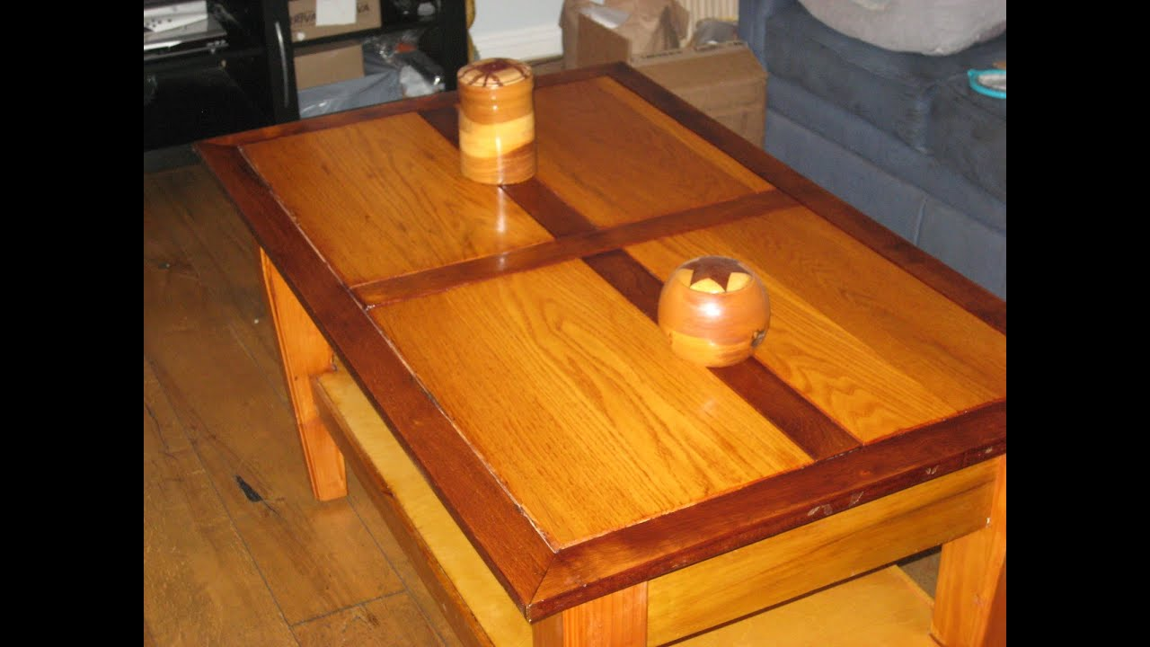 Coffee Table Tudor inspired with large storage under the flip top
