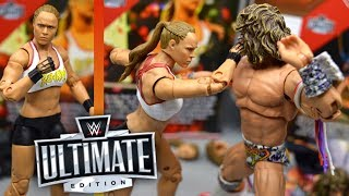 WWE ULTIMATE EDITION RONDA ROUSEY & ULTIMATE WARRIOR FIGURE REVIEW!