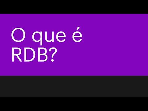 É hora de finalmente entender o que é RDB