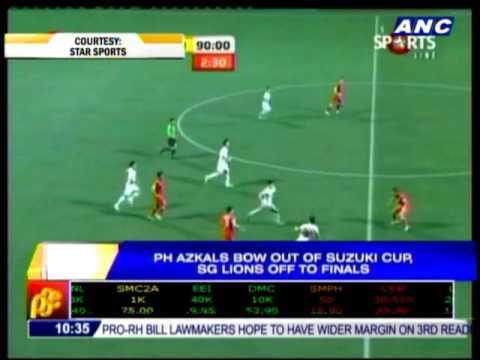 PH Azkals lose to Lions,  bow out of Suzuki Cup