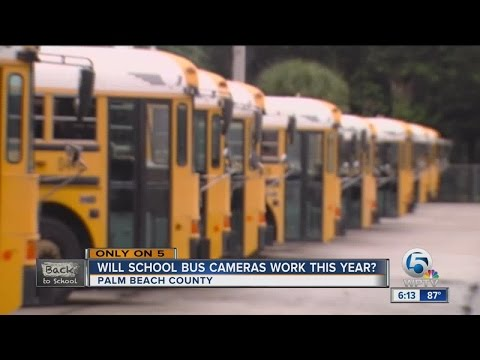 Palm Beach County School District says school bus cameras fixed, but has new rules for recordings