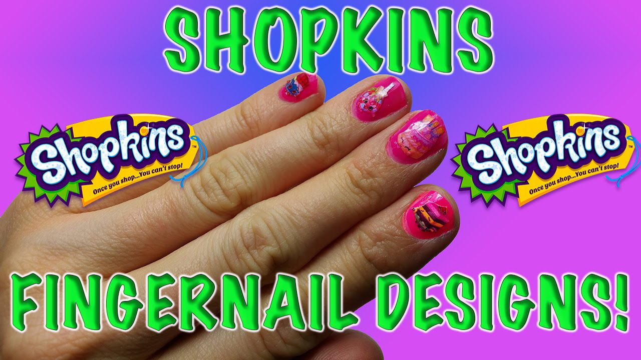 Cute and Stylish DIY SHOPKINS NAIL KIT: How to make your own ...
