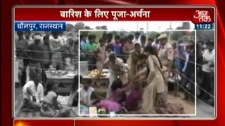 Villagers Pray For Rain In Dhaulpur